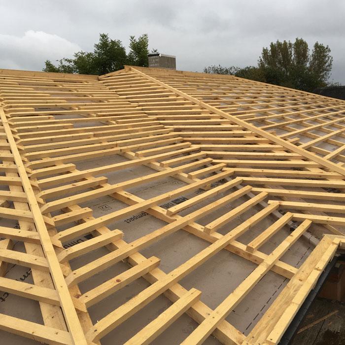 Dachgerüst aus Holz