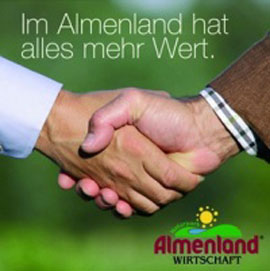 Almenland Handschlag-Logo