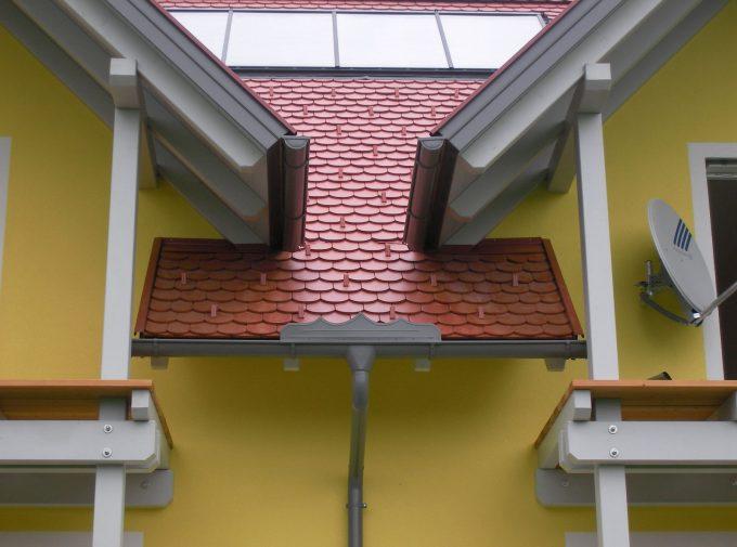 Raffiniertes Dachdecker-Detail