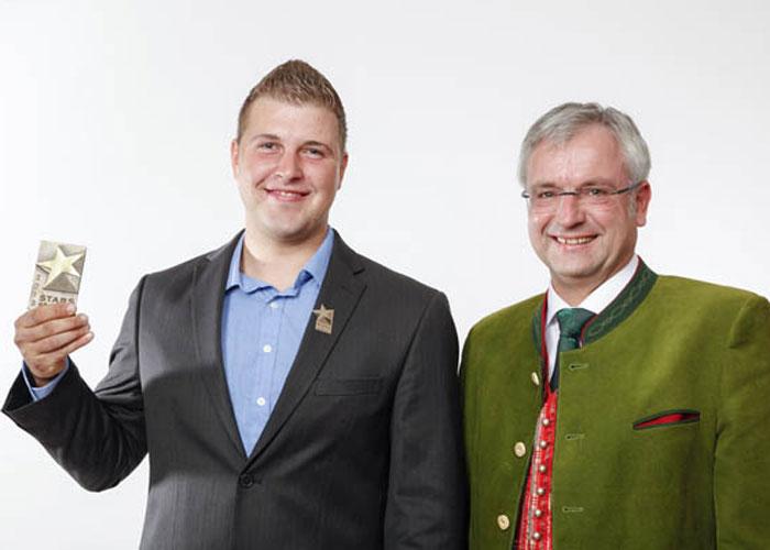 Auszeichnung Stary of Styria an Klammler