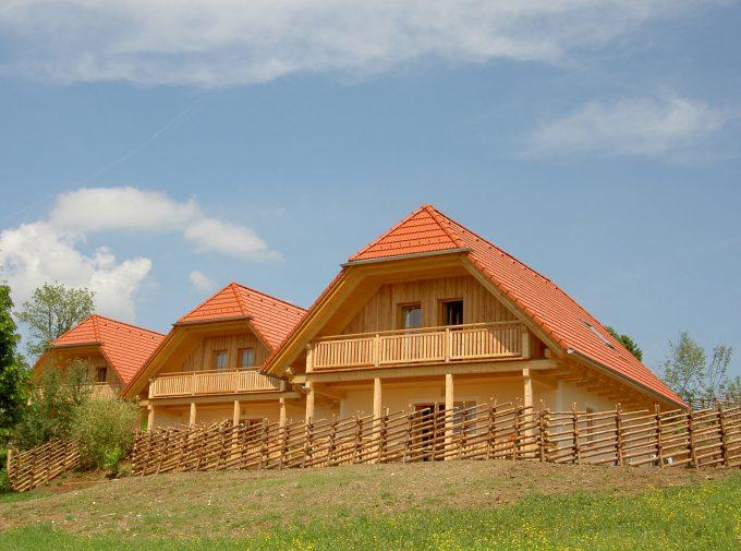 Neue Wohnhäuser im rustikalen Stil mit Dächern von Klammler