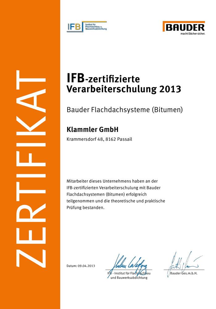 IFB-Zertifikat Schulung 2013
