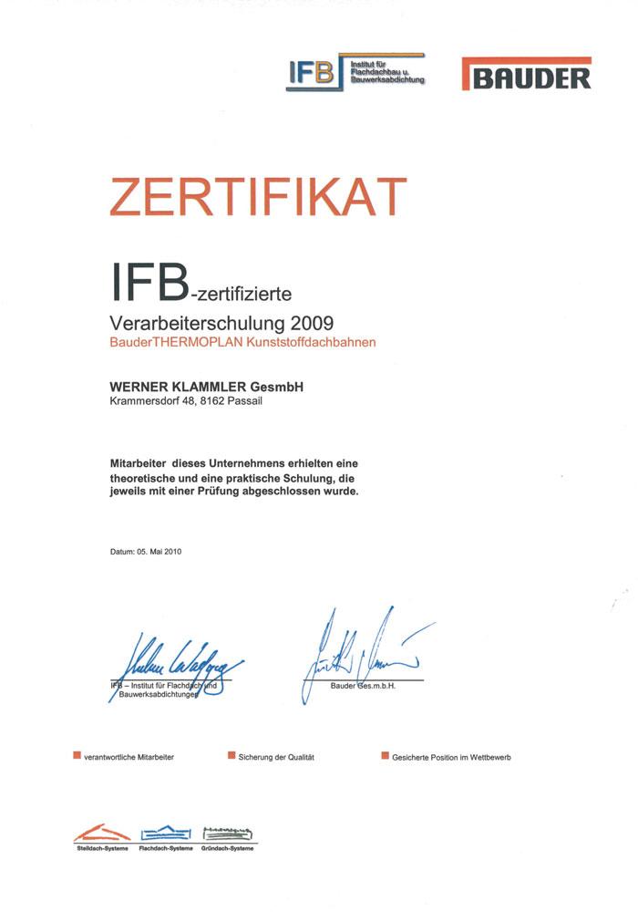 IFB-Zertifikat