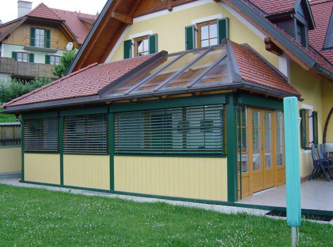 Wintergarten mit Glasdachdetail