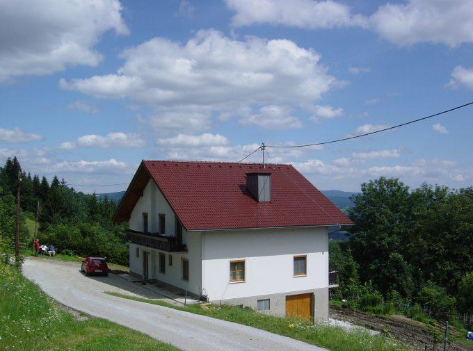 Dach mit Kamin und Leitung