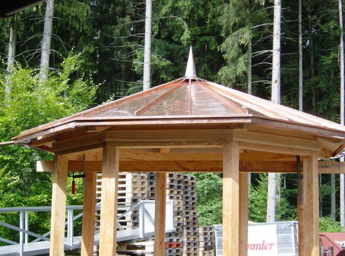 Kupferdach für Pavillon
