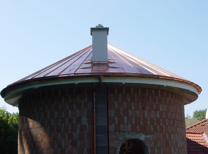 Dach für Rundbau