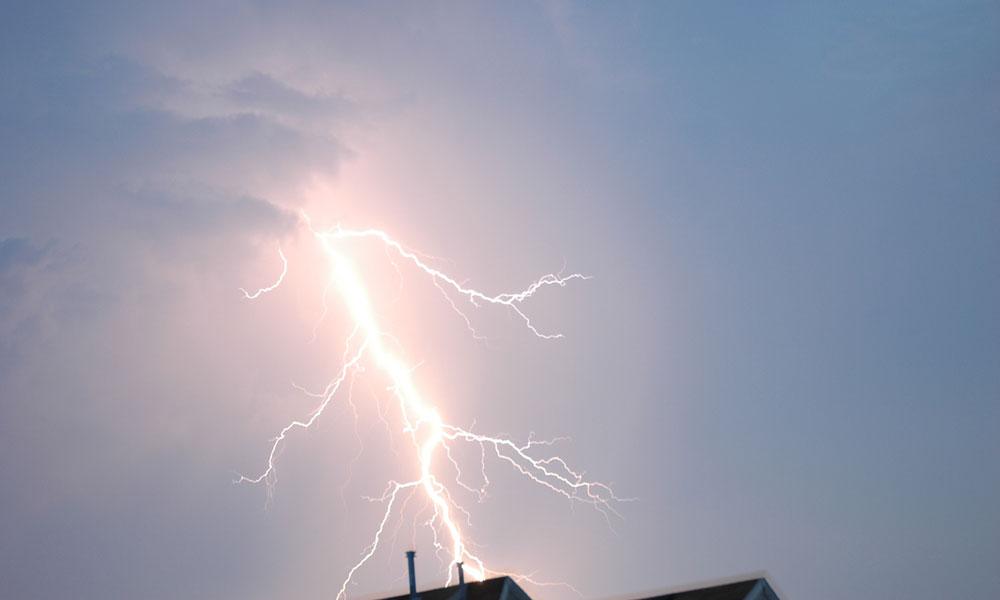 Blitzeinschlag Haus